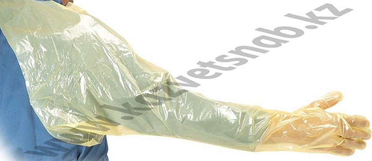 Перчатки для искусственного осеменения с наплечником