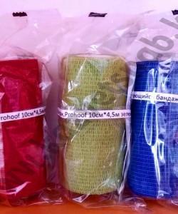 Самоклеющийся бандаж для копыт Prohoof 10 см * 4,5 м (разного цвета)