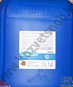 Biotec C Щелочное беспенное дезинфицирующее моющее средство для воды средней жесткости